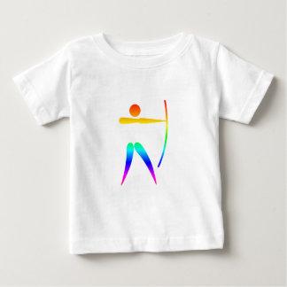 Tiro al arco del arco iris playera de bebé