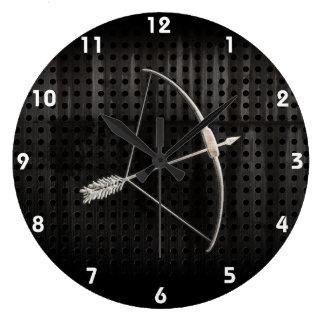 Tiro al arco fresco reloj redondo grande