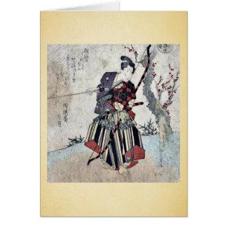 Tiro al arco por Yanagawa, Shigenobu Ukiyoe Tarjetas