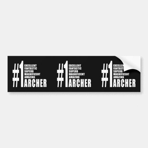 Tiro al arco y Archers: Número uno Archer Etiqueta De Parachoque