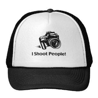 Tiro al fotógrafo de la gente gorros bordados