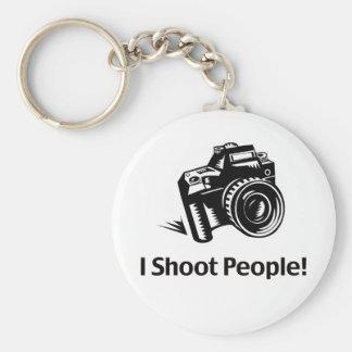 Tiro al fotógrafo de la gente llaveros personalizados