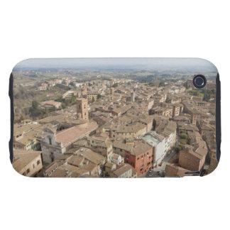 Tiro ancho de la ciudad de la colina de Siena, Ita iPhone 3 Tough Funda