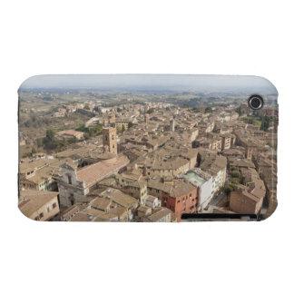Tiro ancho de la ciudad de la colina de Siena, Ita iPhone 3 Case-Mate Carcasas
