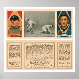 Tiro ancho en el primer béisbol 1912 de los tigres impresiones