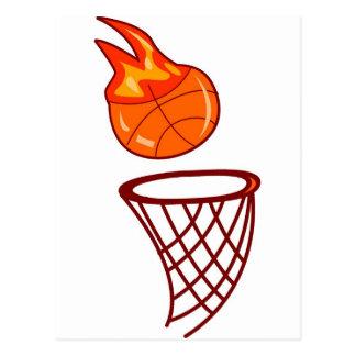 Tiro caliente del baloncesto tarjeta postal