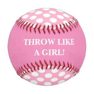 Tiro como un béisbol del rosa del chica