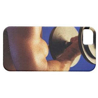 Tiro cosechado de los pesos de elevación del funda para iPhone SE/5/5s
