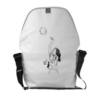 Tiro de baloncesto bolsa de mensajeria