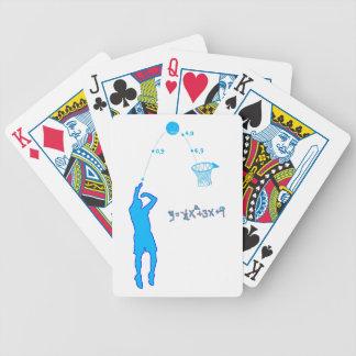 Tiro de baloncesto y ecuación cuadrático baraja cartas de poker