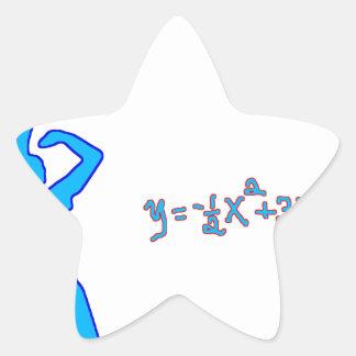 Tiro de baloncesto y ecuación cuadrático pegatina en forma de estrella
