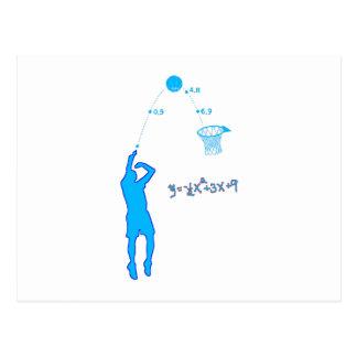 Tiro de baloncesto y ecuación cuadrático postal