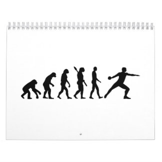 Tiro de disco de la evolución calendarios de pared