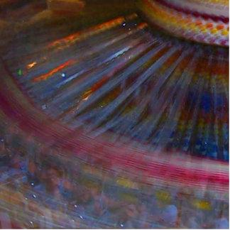 Tiro de giro de la noche de la acción justa colori esculturas fotograficas