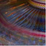 Tiro de giro de la noche de la acción justa colori escultura fotográfica
