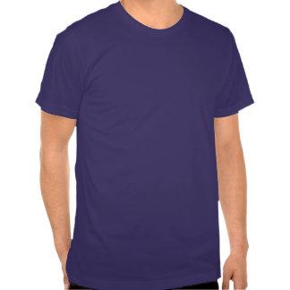 Tiro de jabalina azul camisetas