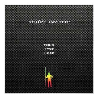 Tiro de jabalina liso invitación 13,3 cm x 13,3cm