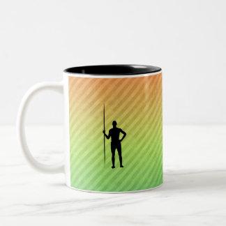 Tiro de jabalina taza de café