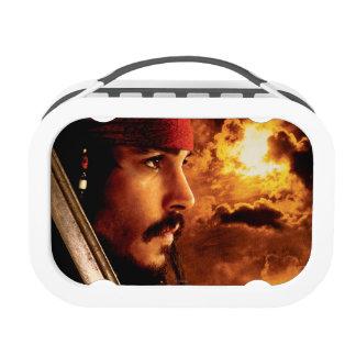 Tiro de la cara lateral de Jack Sparrow