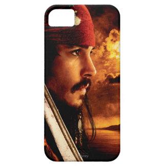 Tiro de la cara lateral de Jack Sparrow iPhone 5 Case-Mate Protector