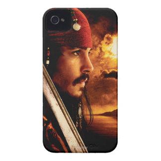 Tiro de la cara lateral de Jack Sparrow Case-Mate iPhone 4 Coberturas