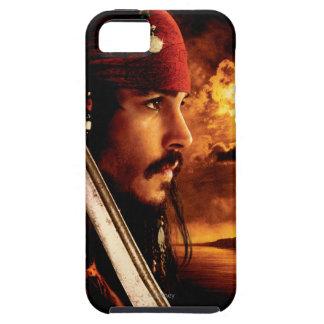 Tiro de la cara lateral de Jack Sparrow iPhone 5 Carcasa
