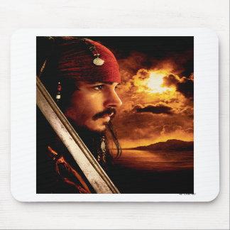 Tiro de la cara lateral de Jack Sparrow Alfombrillas De Raton