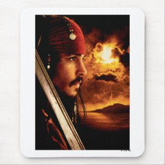 Tiro de la cara lateral de Jack Sparrow Alfombrilla De Ratón
