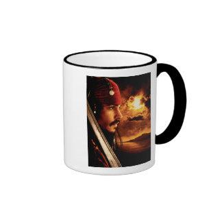 Tiro de la cara lateral de Jack Sparrow Taza De Café