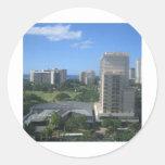Tiro de la ciudad de Honolulu, Hawaii Pegatinas Redondas