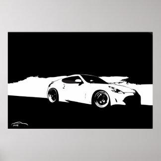 Tiro del balanceo de Nissan 370Z Posters