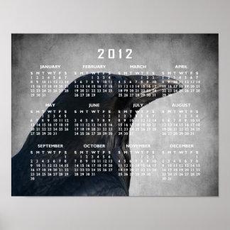 Tiro del encanto del cuervo Calendario 2012 Impresiones