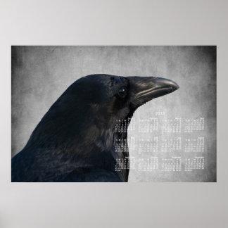 Tiro del encanto del cuervo Calendario 2013 Posters