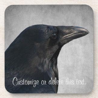 Tiro del encanto del cuervo; Personalizable Posavasos De Bebidas