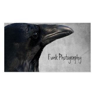 Tiro del encanto del cuervo tarjeta de visita