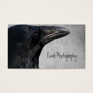 Tiro del encanto del cuervo tarjetas de visita
