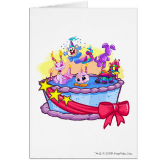 Tiro del grupo de la torta de cumpleaños felicitaciones