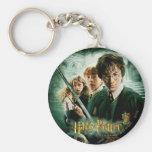 Tiro del grupo del Dobby de Harry Potter Ron Hermi Llavero Redondo Tipo Pin
