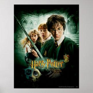 Tiro del grupo del Dobby de Harry Potter Ron Hermi Póster