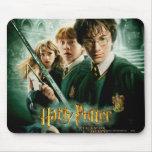Tiro del grupo del Dobby de Harry Potter Ron Hermi Tapetes De Ratón