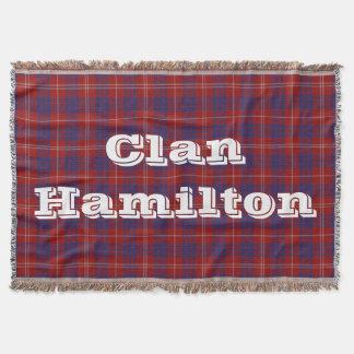 Tiro del tartán de Hamilton del clan Manta