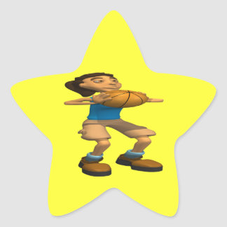 Tiro del tiro libre pegatina en forma de estrella