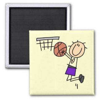 Tiro en suspensión del baloncesto - camisetas y imán cuadrado