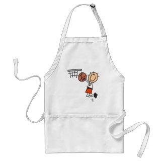 Tiro en suspensión del baloncesto - camisetas y re delantal