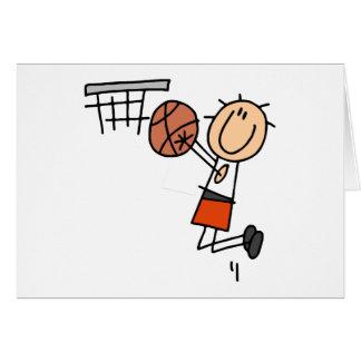 Tiro en suspensión del baloncesto - camisetas y re tarjeta de felicitación