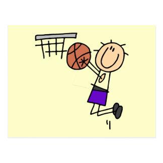 Tiro en suspensión del baloncesto - camisetas y re tarjeta postal