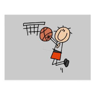 Tiro en suspensión del baloncesto - camisetas y re tarjetas postales