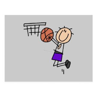 Tiro en suspensión del baloncesto - camisetas y tarjeta postal