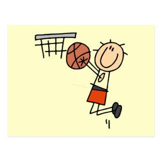 Tiro en suspensión del baloncesto - camisetas y postal