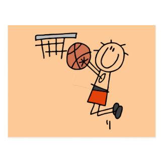 Tiro en suspensión del baloncesto - camisetas y postales